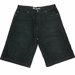 "Mens D Max Raw Denim Shorts 36W 14"" Long"